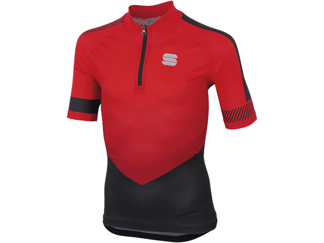 Sportful Chevron Jersey Shortsleeve Kinder red/black